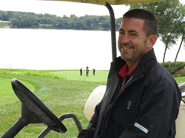Tim Glorioso is smiling much more these days at Toledo Country Club. Photo by John Reitman