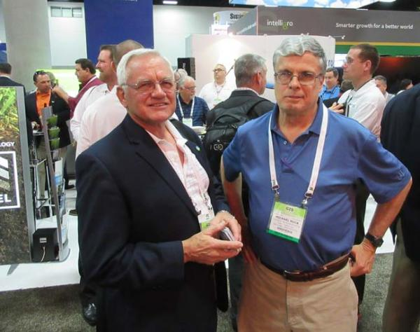 Mike Huck, right, with Ted Horton, CGCS, at the Golf Industry Show. Photo courtesy of Emmy Moore Minister