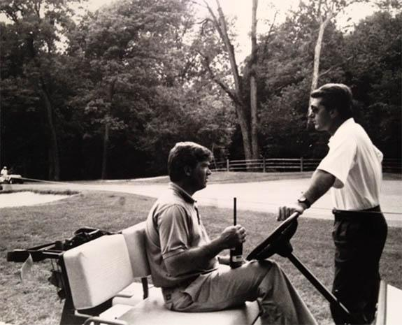 Terry Laurent (left) and Tim Moraghan, then of the USGA, during the run up to the 1992 U.S. Senior Open at Saucon Valley.