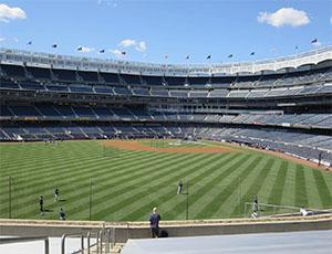 Tour stops during this year's International Turfgrass Conference include Yankee Stadium.