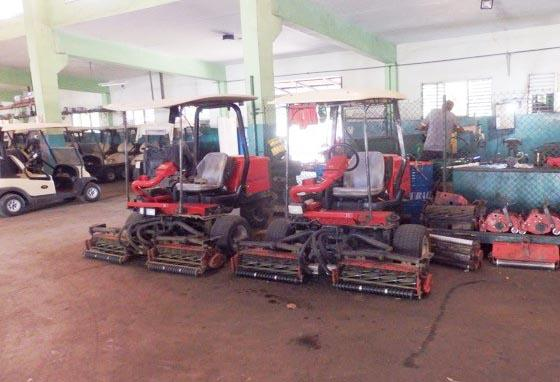 When it comes to golf course maintenance equipment in Cuba, there is no such thing as new.