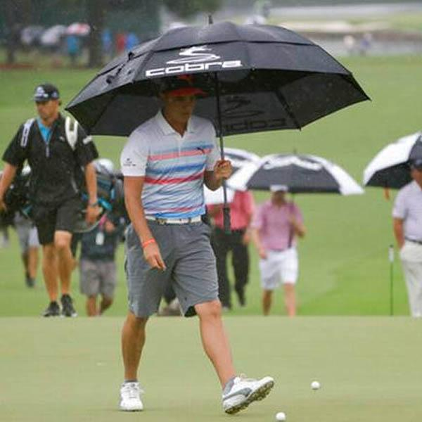 Rickie Fowler and other PGA Tour pros donned shorts for practice rounds this week at the PGA Championship. Photo by the News & Observer.