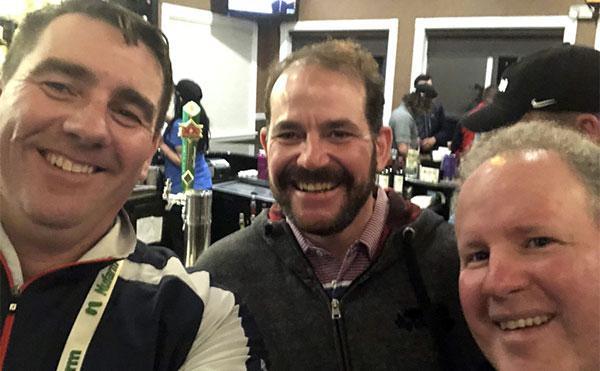 Mark Perry, Pat O'Brien and myself at GIS.