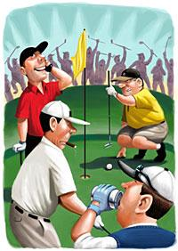 Slow Play illustration by Scott Pollack in the Wall Street Journal