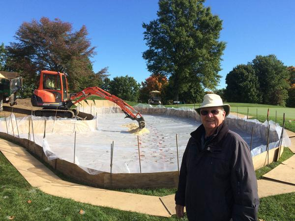 Frank Dobie's bunker construction method has been working for him since the 1960s.