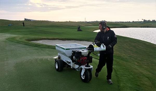 Busy, busy with aeration, applications and topdressing