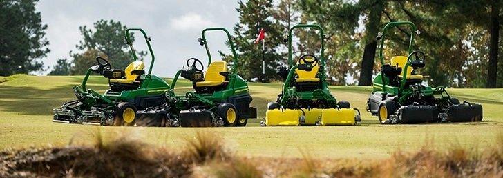 Deere unveils four new triplex greensmowers