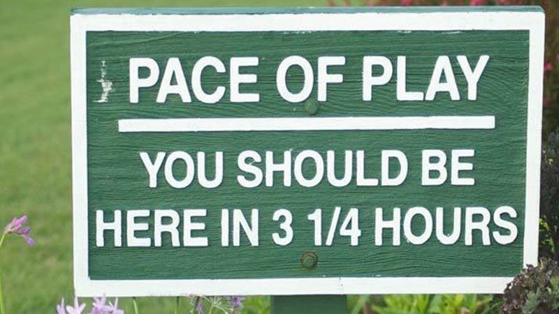 Image result for pace of play sign