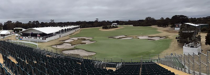 Playing conditions at Royal Melbourne...