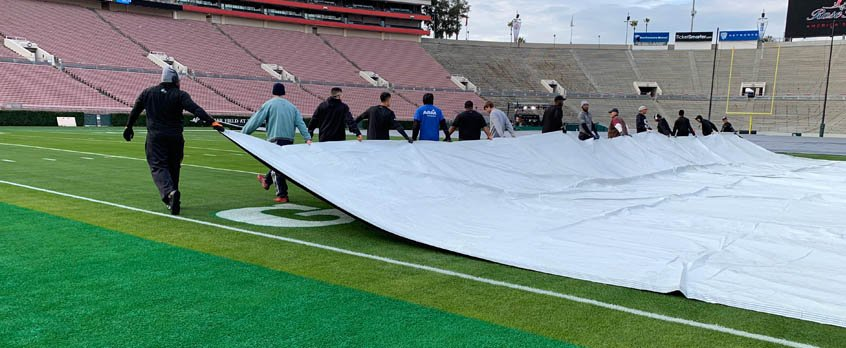 Sunday Funday includes parade prep and tarps