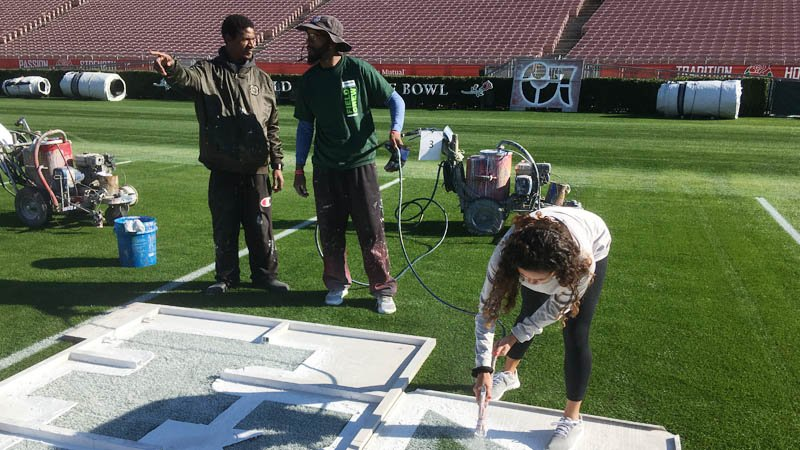 Frost slows things down on painting day