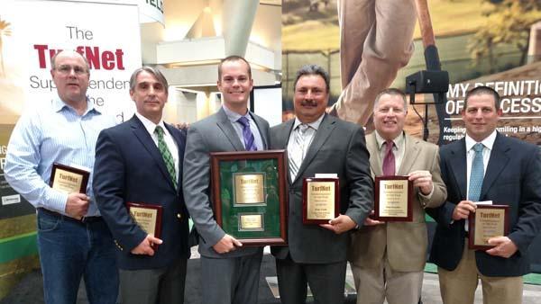 Superintendent of the year finalists, from left, are Marty Baumann, John Cunningham, Matt Gourlay, Jorge Croda, Matt Crowther, Bob Becker.