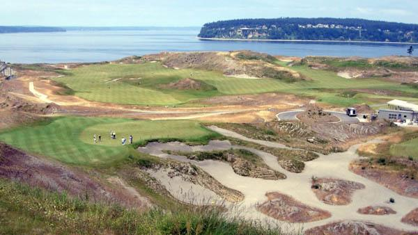 Chambers Bay has withdrawn from the 2019 U.S. Amateur Four-Ball Championship while a transition from fescue to Poa annua putting surfaces continues.