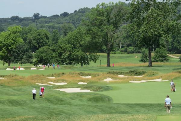 A tour of the recently restored Philadelphia Cricket Club, shown here, went a long way in selling Moraine Country Club members on a restoration of their own course. Photo by John Reitman