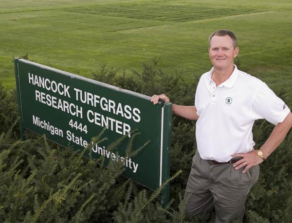 Trey Rogers, Ph.D., is among the many instructors who teach at the Michigan State Turf School short course each December.