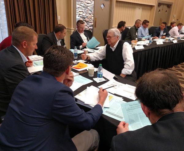Bill Davis, Ph.D., of Wake Forest University leads a seminar on negotiating tactics at last year's Syngenta Business Institute in Winston-Salem, North Carolina.